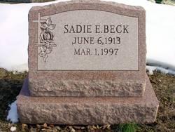Sadie E Beck