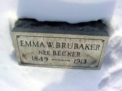 Emma Weaver <I>Becker</I> Brubaker