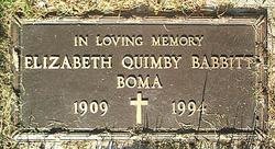 Elizabeth <I>Quimby</I> Babbitt