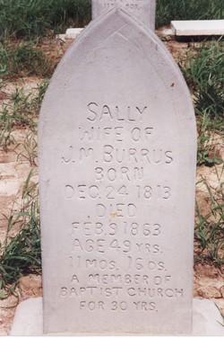 Sally <I>Hughes</I> Burrus