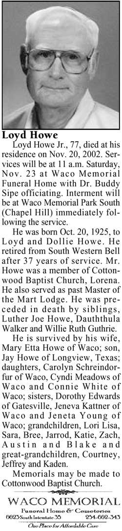 Loyd Howe, Jr