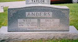 "Sarah Matilda ""Sally"" <I>Floyd</I> Anders"