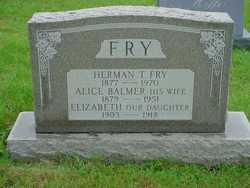 Alice <I>Balmer</I> Fry