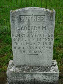 Barbara Miller <I>Rutt</I> Stauffer
