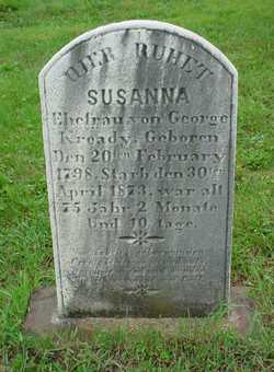 Susanna <I>Burchfield</I> Kready