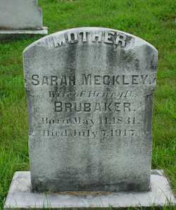 Sarah <I>Meckley</I> Brubaker