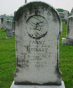 "Frances ""Fanny"" <I>Wieder</I> Meckley"