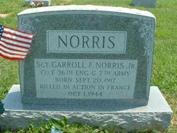Sgt Carroll Franklin Norris, Jr