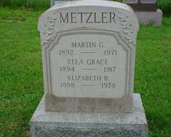 Elizabeth Brubaker <I>Brubaker</I> Metzler