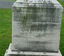 Mary M <I>Greider</I> Rohrer
