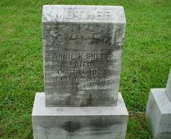 Annie K <I>Musser</I> Sheetz