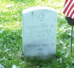 Freeman W Schaffer
