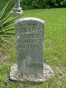 Sarah A <I>Evans</I> Ashby