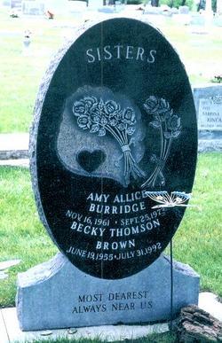 "Rebecca ""Becky"" Thomson Brown (1955-1992) - Find A Grave Memorial"