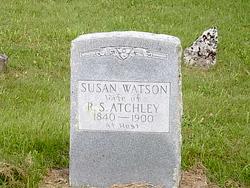 "Susanna Mary Conner ""Susan"" <I>Watson</I> Atchley"
