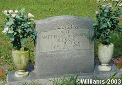Mattielene <I>Abernathy</I> Buckner