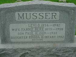 Fannie Hess <I>Herr</I> Musser