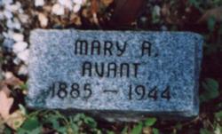 Mary A. <I>McClain</I> Avant