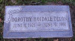 Dorothy <I>Hoidale</I> Dixon