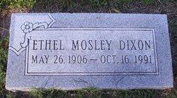 Ethel <I>Mosley</I> Dixon
