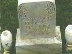 Hester Marie Henderson