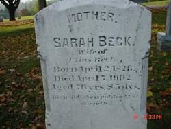Sarah <I>Schnader</I> Beck