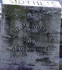 Annie Mary <I>Trout</I> Brubaker