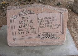 Adeline Alvina <I>Luthy</I> Kimball