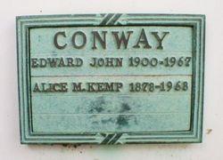 Alice M. <I>Kemp</I> Conway