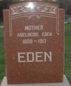 Adelheide Christine <I>Jacobs</I> Eden