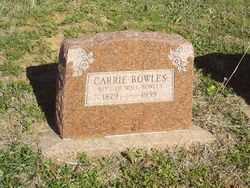 Carrie Dell <I>Dewitt</I> Bowles