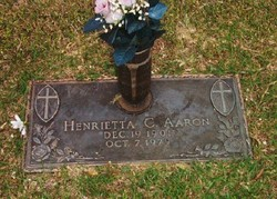 Henrietta C. <I>Glover</I> Aaron