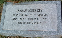 "Sarah R ""Sally"" <I>Jones</I> Key"