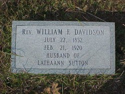 Rev William Frederick Davidson