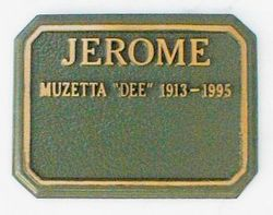 "Muzetta Renee ""Dee"" <I>Shortridge</I> Jerome"