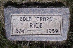 Edla <I>Crapo</I> Rice