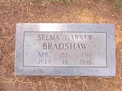Selma <I>Garner</I> Bradshaw