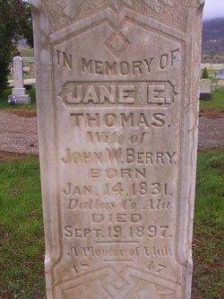 Jane Elizabeth <I>Thomas</I> Berry