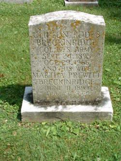 Col Clifton Rodes Breckinridge