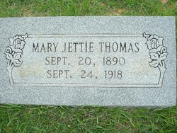 Mary Jettie <I>Bearden</I> Thomas