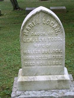 Maria Logan <I>Todd</I> Bullock