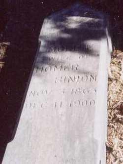"Mary Mathilda ""Mollie"" <I>Davis</I> Binion"