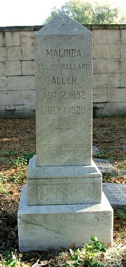 Malinda Ellen <I>Mallard</I> Allen