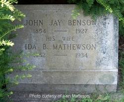 Ida B. <I>Mathewson</I> Benson