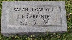Sarah J. <I>Carroll</I> Carpenter