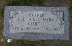 Ruth <I>Doull Hayball</I> Curtis