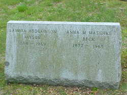 Anna M. <I>Maschke</I> Beck