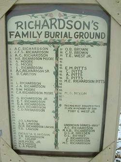 Richardsons Family Burial Ground
