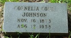 Cornelia <I>Cone</I> Johnson