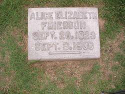 Alice Elizabeth <I>Stephenson</I> Frierson